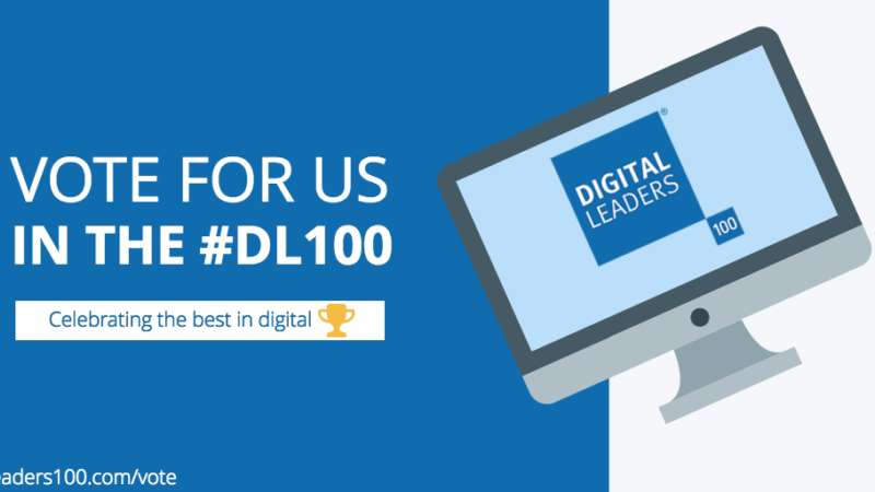 Digital Mums Vote for Digital Mums in the Annual Digital Leaders 100 Awards