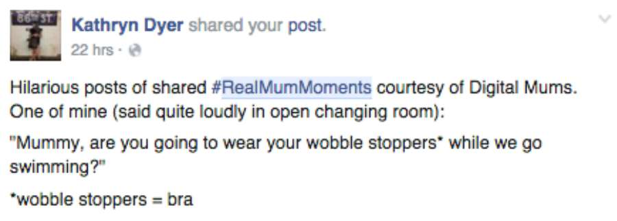 Digital Mums #RealMumMoments Round-up #1